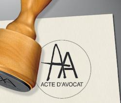 Acte d'Avocat