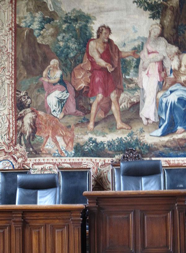 Interieur du palais de justice Dijon
